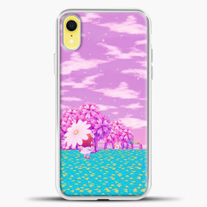 Animal Crossing Purple Sky iPhone XR Case, White Plastic Case | casedilegna.com