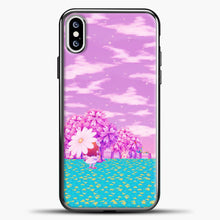 Load image into Gallery viewer, Animal Crossing Purple Sky iPhone XS Case, Black Plastic Case | casedilegna.com