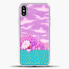 Load image into Gallery viewer, Animal Crossing Purple Sky iPhone XS Max Case, White Plastic Case | casedilegna.com