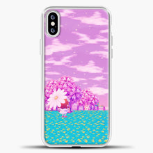 Load image into Gallery viewer, Animal Crossing Purple Sky iPhone XS Case, White Plastic Case | casedilegna.com