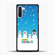Load image into Gallery viewer, Animal Crossing Snoflake Samsung Galaxy Note 10 Case, Black Plastic Case | casedilegna.com