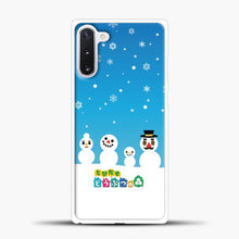 Load image into Gallery viewer, Animal Crossing Snoflake Samsung Galaxy Note 10 Case, White Plastic Case | casedilegna.com