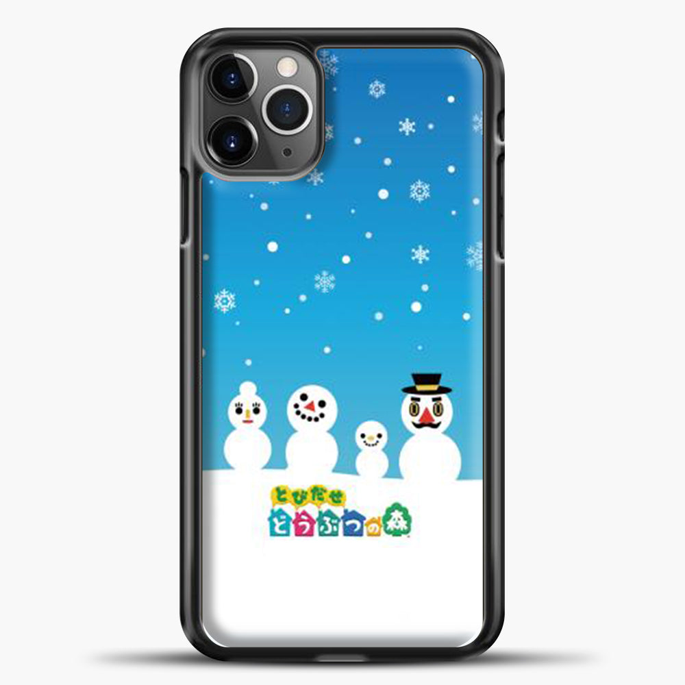 Animal Crossing Snoflake iPhone 11 Pro Max Case, Black Plastic Case | casedilegna.com