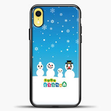 Load image into Gallery viewer, Animal Crossing Snoflake iPhone XR Case, Black Plastic Case | casedilegna.com