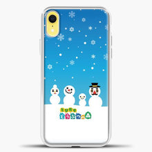 Load image into Gallery viewer, Animal Crossing Snoflake iPhone XR Case, White Plastic Case | casedilegna.com