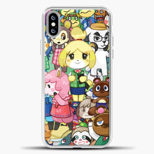 Load image into Gallery viewer, Animal Crossing Some Animals iPhone XS Max Case, White Plastic Case | casedilegna.com