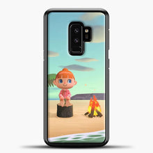 Load image into Gallery viewer, Animal Crossing The Beach Samsung Galaxy S9 Plus Case, Black Plastic Case | casedilegna.com