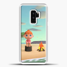 Load image into Gallery viewer, Animal Crossing The Beach Samsung Galaxy S9 Plus Case, White Plastic Case | casedilegna.com