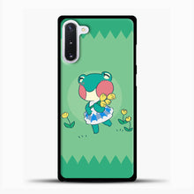 Load image into Gallery viewer, Animal Crossing Tosca Background Samsung Galaxy Note 10 Case, Black Plastic Case | casedilegna.com