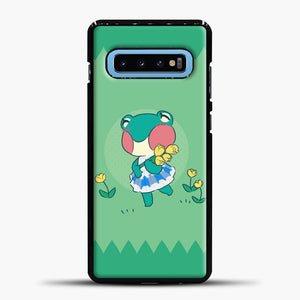 Animal Crossing Tosca Background Samsung Galaxy S10 Case, Black Plastic Case | casedilegna.com