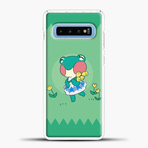 Animal Crossing Tosca Background Samsung Galaxy S10 Case, White Plastic Case | casedilegna.com