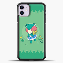 Load image into Gallery viewer, Animal Crossing Tosca Background iPhone 11 Case, Black Plastic Case | casedilegna.com