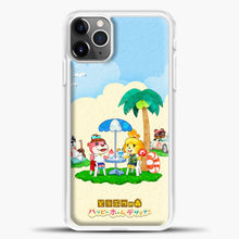 Load image into Gallery viewer, Animal Crossing Under The Coconut Tree iPhone 11 Pro Max Case, White Plastic Case | casedilegna.com