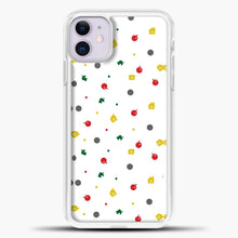 Load image into Gallery viewer, Animal Crossing White Backgground Pattern iPhone 11 Case, White Plastic Case | casedilegna.com