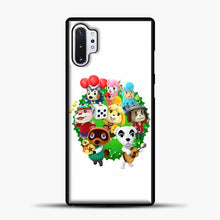 Load image into Gallery viewer, Animal Crossing White Background Samsung Galaxy Note 10 Plus Case, Black Plastic Case | casedilegna.com