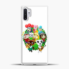 Load image into Gallery viewer, Animal Crossing White Background Samsung Galaxy Note 10 Plus Case, White Plastic Case | casedilegna.com
