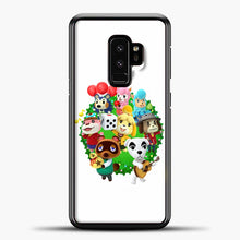 Load image into Gallery viewer, Animal Crossing White Background Samsung Galaxy S9 Case, Black Plastic Case | casedilegna.com