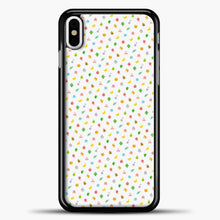 Load image into Gallery viewer, Animal Crossing White Background iPhone X Case, Black Plastic Case | casedilegna.com