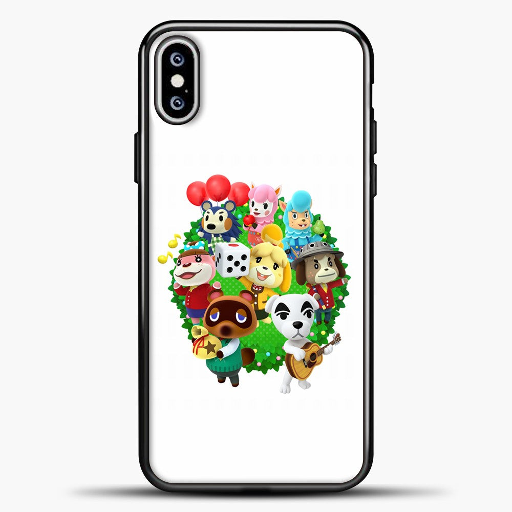 Animal Crossing White Background iPhone XS Max Case, Black Plastic Case | casedilegna.com