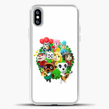 Load image into Gallery viewer, Animal Crossing White Background iPhone XS Max Case, White Plastic Case | casedilegna.com