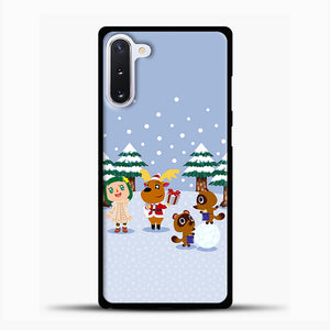 Animal Crossing Winter Samsung Galaxy Note 10 Case, Black Plastic Case | casedilegna.com