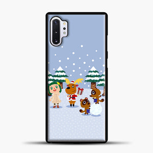 Animal Crossing Winter Samsung Galaxy Note 10 Plus Case, Black Plastic Case | casedilegna.com