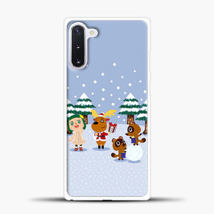 Animal Crossing Winter Samsung Galaxy Note 10 Case, White Plastic Case | casedilegna.com