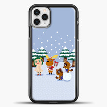 Load image into Gallery viewer, Animal Crossing Winter iPhone 11 Pro Case, Black Plastic Case | casedilegna.com