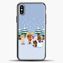Load image into Gallery viewer, Animal Crossing Winter iPhone XS Case, Black Plastic Case | casedilegna.com