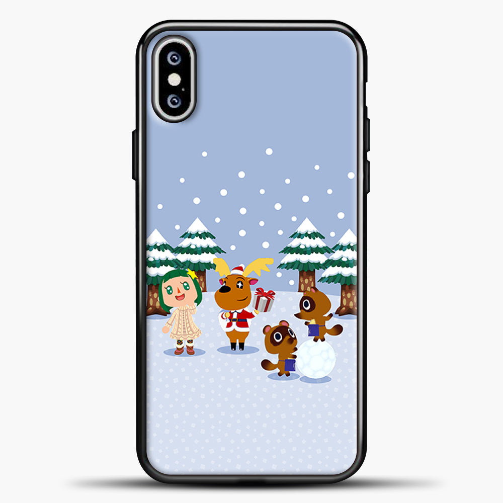 Animal Crossing Winter iPhone XS Max Case, Black Plastic Case | casedilegna.com