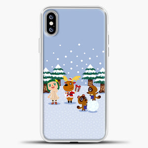 Animal Crossing Winter iPhone XS Max Case, White Plastic Case | casedilegna.com