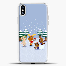 Load image into Gallery viewer, Animal Crossing Winter iPhone XS Case, White Plastic Case | casedilegna.com