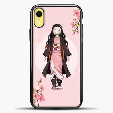 Anime Demon Slayer Nezuko iPhone XR Case, Black Plastic Case | casedilegna.com