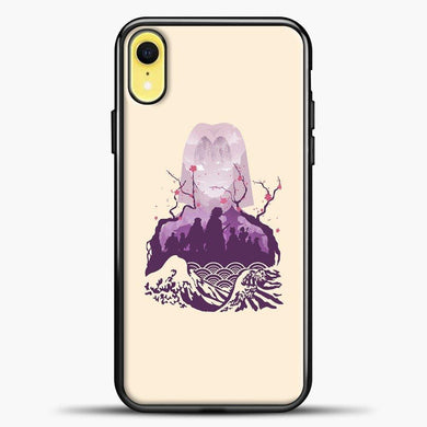 Anime Demon Slayer Purple Image iPhone XR Case, Black Plastic Case | casedilegna.com