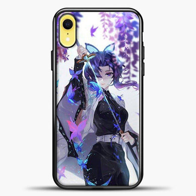 Anime Demon Slayer Shinobu iPhone XR Case, Black Plastic Case | casedilegna.com