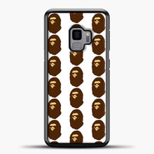 Load image into Gallery viewer, Ape Logo Pattern Samsung Galaxy S9 Case, Black Plastic Case | casedilegna.com