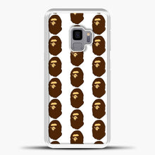 Load image into Gallery viewer, Ape Logo Pattern Samsung Galaxy S9 Case, White Plastic Case | casedilegna.com