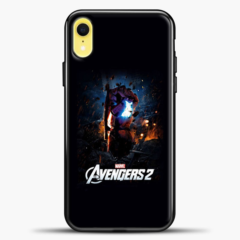 Avengers Blue Light iPhone XR Case, Black Plastic Case | casedilegna.com