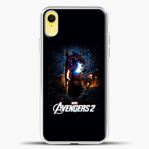 Avengers Blue Light iPhone XR Case, White Plastic Case | casedilegna.com