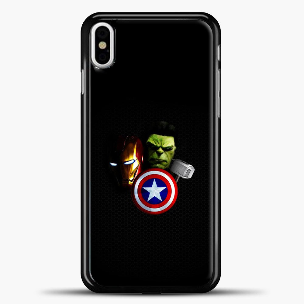 Avengers Carbon Fiber Background iPhone X Case, Black Plastic Case | casedilegna.com