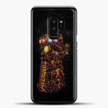 Load image into Gallery viewer, Avengers Gold Hand Samsung Galaxy S9 Plus Case, Black Plastic Case | casedilegna.com