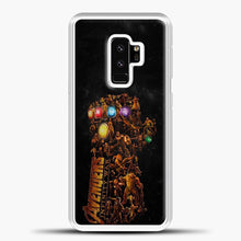 Load image into Gallery viewer, Avengers Gold Hand Samsung Galaxy S9 Plus Case, White Plastic Case | casedilegna.com