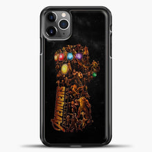 Load image into Gallery viewer, Avengers Gold Hand iPhone 11 Pro Max Case, Black Plastic Case | casedilegna.com
