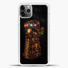 Load image into Gallery viewer, Avengers Gold Hand iPhone 11 Pro Max Case, White Plastic Case | casedilegna.com