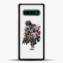 Load image into Gallery viewer, Avengers Grey Background Samsung Galaxy S10e Case, Black Plastic Case | casedilegna.com