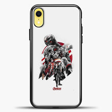 Load image into Gallery viewer, Avengers Grey Background iPhone XR Case, Black Plastic Case | casedilegna.com
