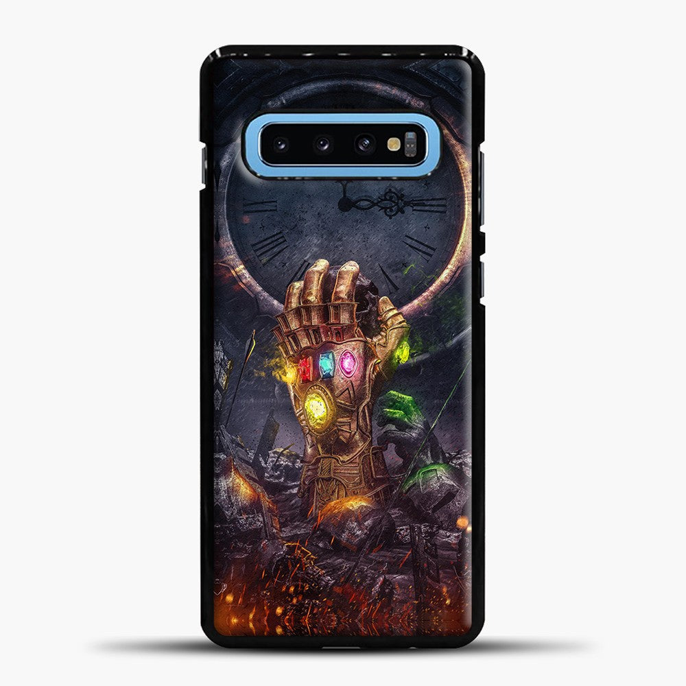 Avengers Hand And Fire Samsung Galaxy S10 Case, Black Plastic Case | casedilegna.com