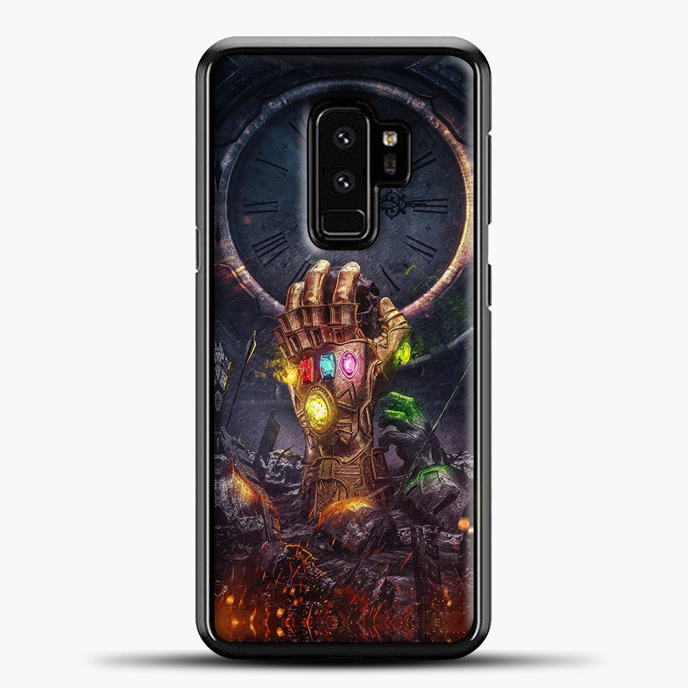 Avengers Hand And Fire Samsung Galaxy S9 Plus Case, Black Plastic Case | casedilegna.com