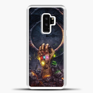 Avengers Hand And Fire Samsung Galaxy S9 Plus Case, White Plastic Case | casedilegna.com