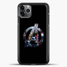 Load image into Gallery viewer, Avengers Logo iPhone 11 Pro Max Case, Black Plastic Case | casedilegna.com